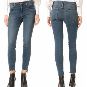 Frame Denim Le High Skinny Raw Step Hem Jeans